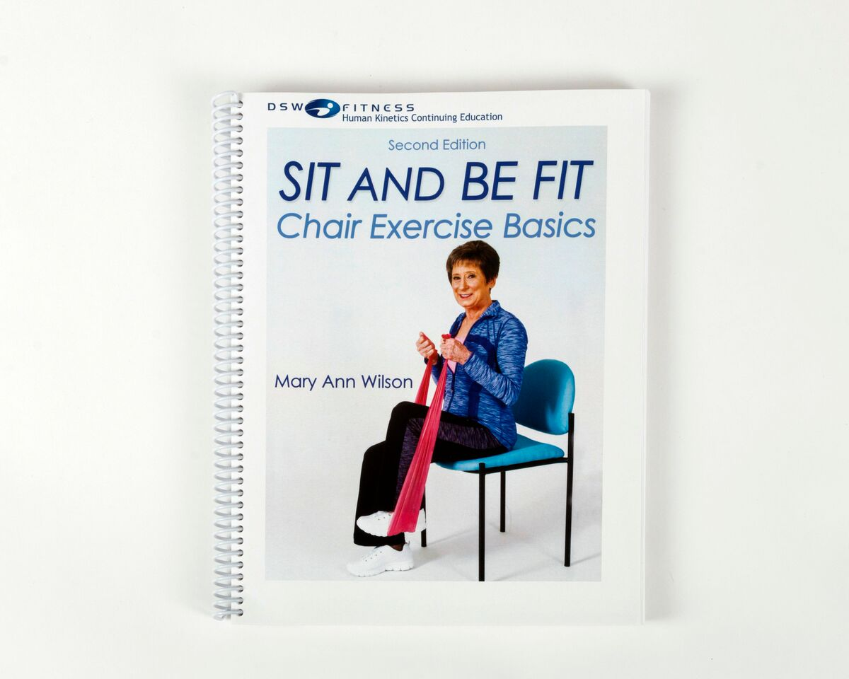 chair gym exercise book arm of basics only sit and be fit