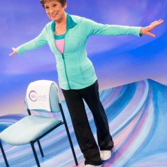 Chair Exercises On Cable Tv Large Round Preventing Falls Sit And Be Fit Practice The Tandem Walk For Better Balance
