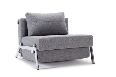 chair bed with arms uk fishing shade innovation istyle collection danish sofa beds sitnsleep cubed 90 chrome