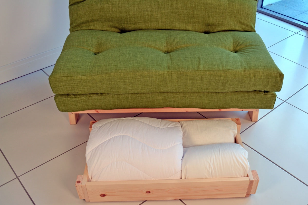 compact sofa bed eggplant futon full size double with small