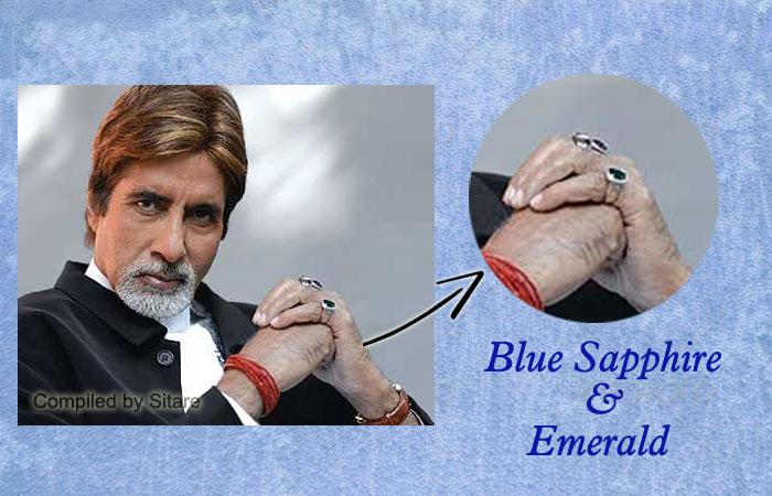 Amitabh Bachchan Wearing Blue Sapphire Gemstone