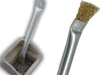 Cleaning rods and Brushes for deburring, flue brushes