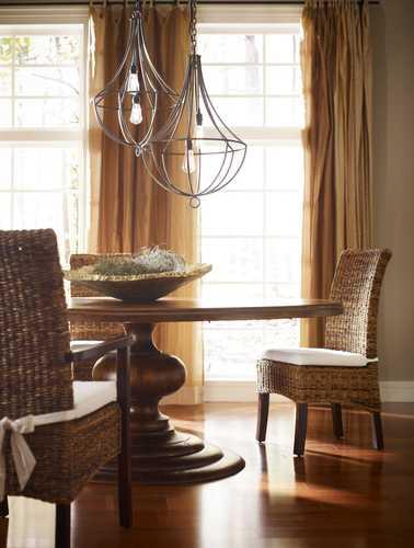 banana leaf dining room chairs recliner chair risers arcadia w cushion side