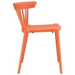 Orange Side Chair Eames Style Dining Span