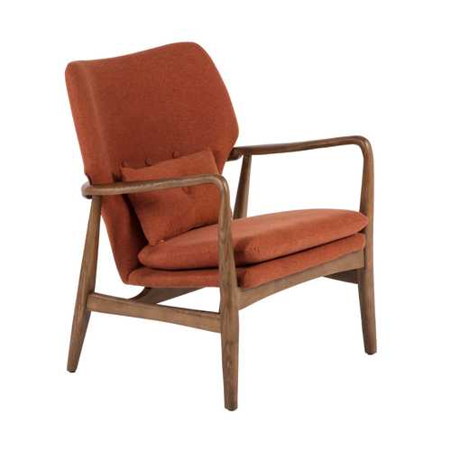 Edwin Lounge Chair  Burnt OrangeWood