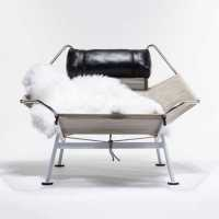 Lennie Chair And Ottoman W/ Two Sheepskins