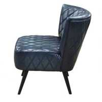 Mike Dining Chair Blue Leather-Set Of Two