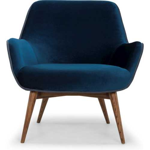 Gretchen Single Seat Sofa In Midnight Blue Fabric Seat