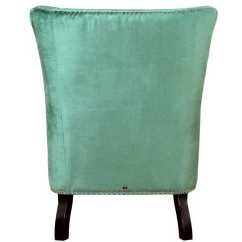 Turquoise Wingback Chair Kidkraft Avalon Table And Set White Regina Velvet Wing