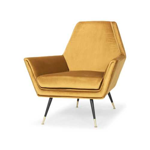 Vanessa Occasional Chair In Mustard Fabric Seat