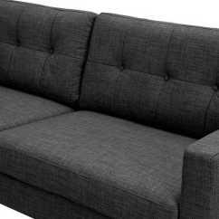 Charcoal Gray Tufted Sofa Dustin Brown Sofascore Dioli Walnut