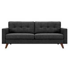 Charcoal Gray Sofa Set Semi Circle Leather Uk Dioli Walnut