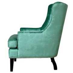 Turquoise Wingback Chair Ak Gaming Regina Velvet Wing