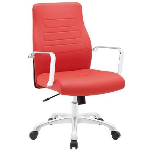 office chair red ergonomic reviews morgan mid back aluminum