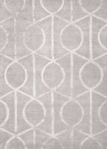 city seattle 8x8 square rug in drizzle star white