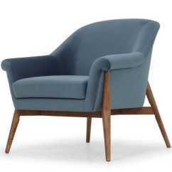 One Seater Sofa Size Bobs Furniture San Antonio Charlize Single Seat In Dusty Blue Fabric