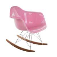 Lorena Rocking Chair - Glossy Pink Fiberglass