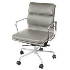 Low Back Office Chair Camo Camp Chandel Vintage Smoke