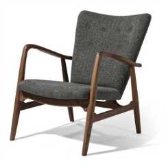 Grey Lounge Chair Design In Nepal Pierce American Walnut Tweed