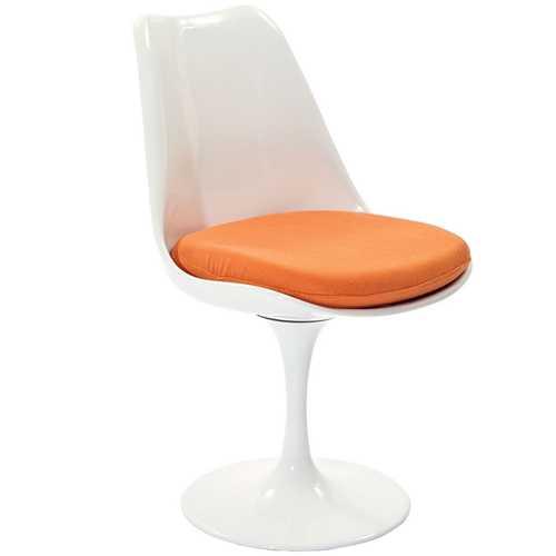 orange side chair graco blossom high haas with cushion