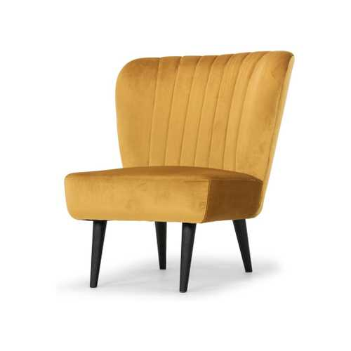 Alicia Occasional Chair In Mustard Fabric Seat  Lounge