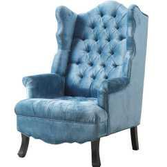 Blue Velvet Armchair Nz Narrow High Chair Deborah Wing
