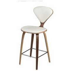 White Leather Bar Chair Rattan Hanging Uk Satine Stool In Seat Counter