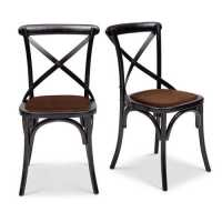 Nimes Side Chair ,Black/ Brown - Dining | Side Chairs - Chairs