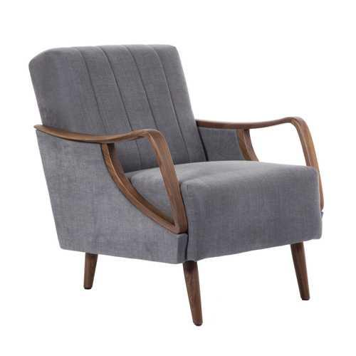 grey lounge chair steel size briggs american walnut dark