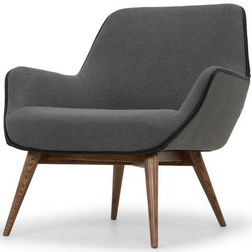 one seater sofa chair hutton gretchen single seat in slate grey fabric