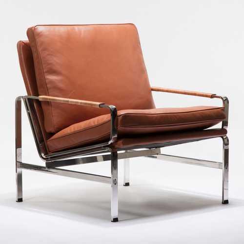 Kurt Lounge Chair  Cognac Leather