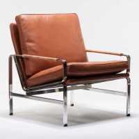 Kurt Lounge Chair - Cognac Leather