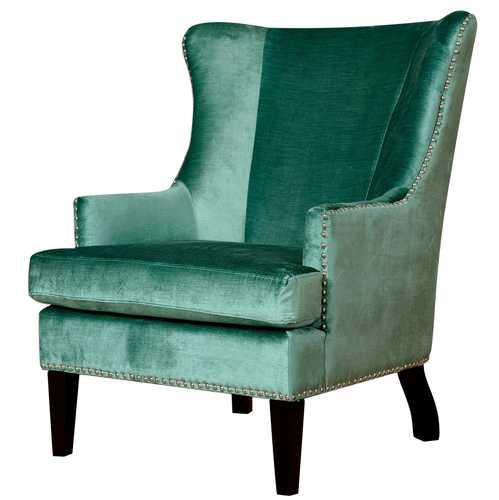 Regina Turquoise Velvet Wing Chair
