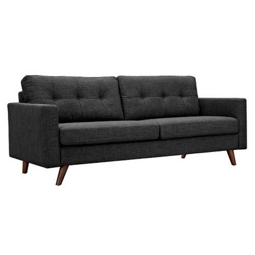 charcoal gray tufted sofa leather covers for seats dioli walnut