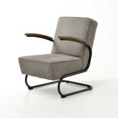 Grey Club Chair Exercise Ball Evans Fabric White Stripe