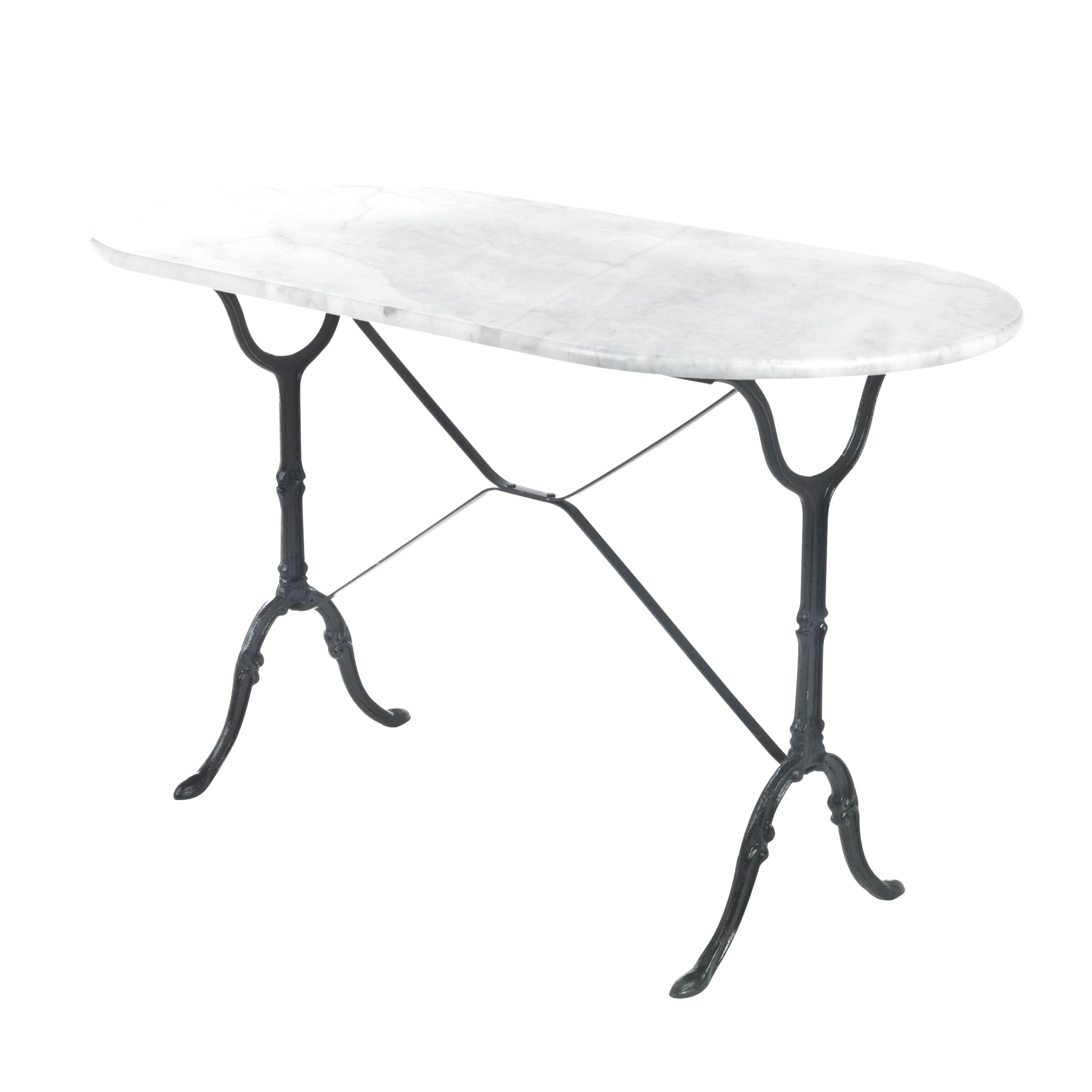 table bistrot ovale marbre