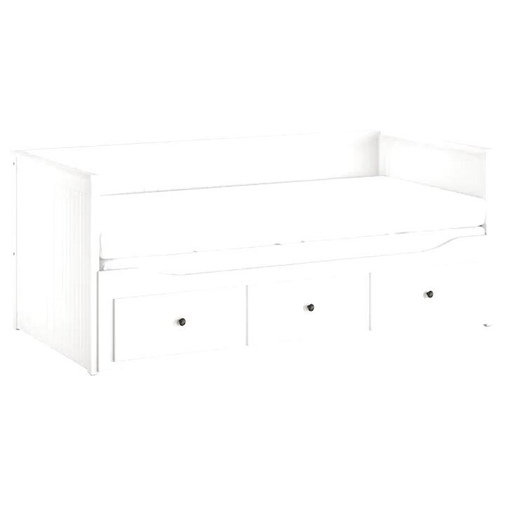 babydan barriere de lit en bois blanc