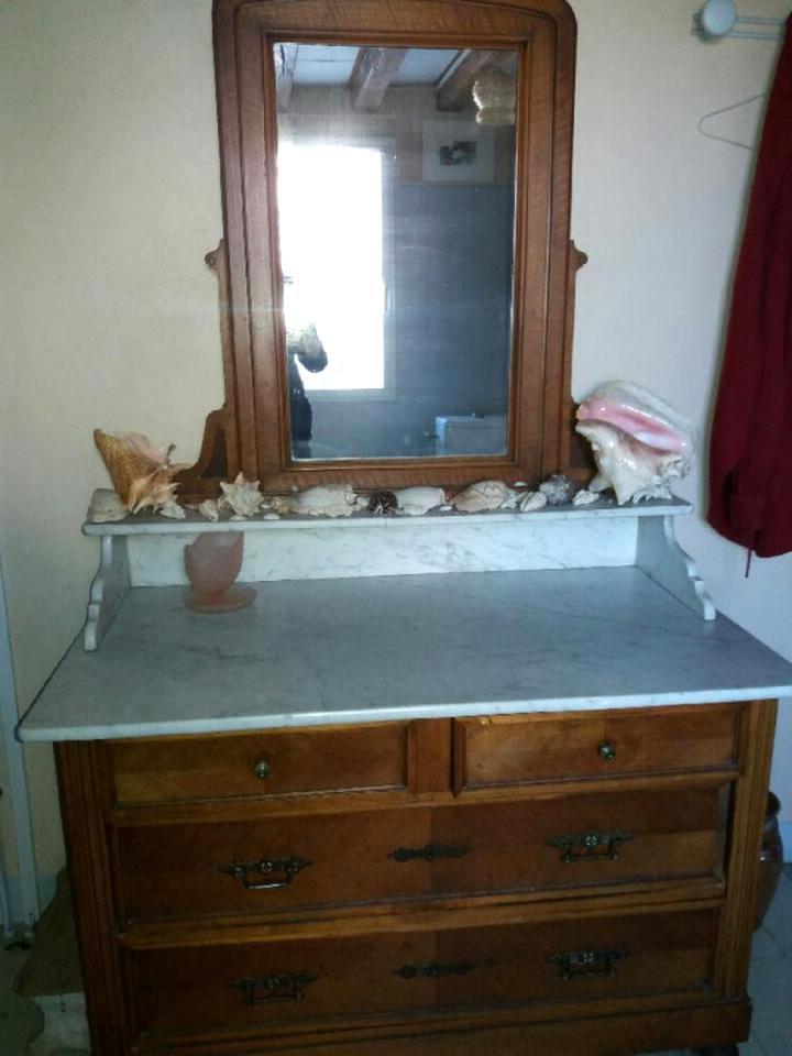 Meuble De Toilette Ancien Avec Marbre Gamboahinestrosa