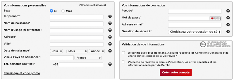 formulaire inscription paris sportif