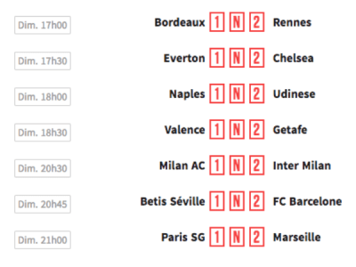 winamax grille 7 matchs