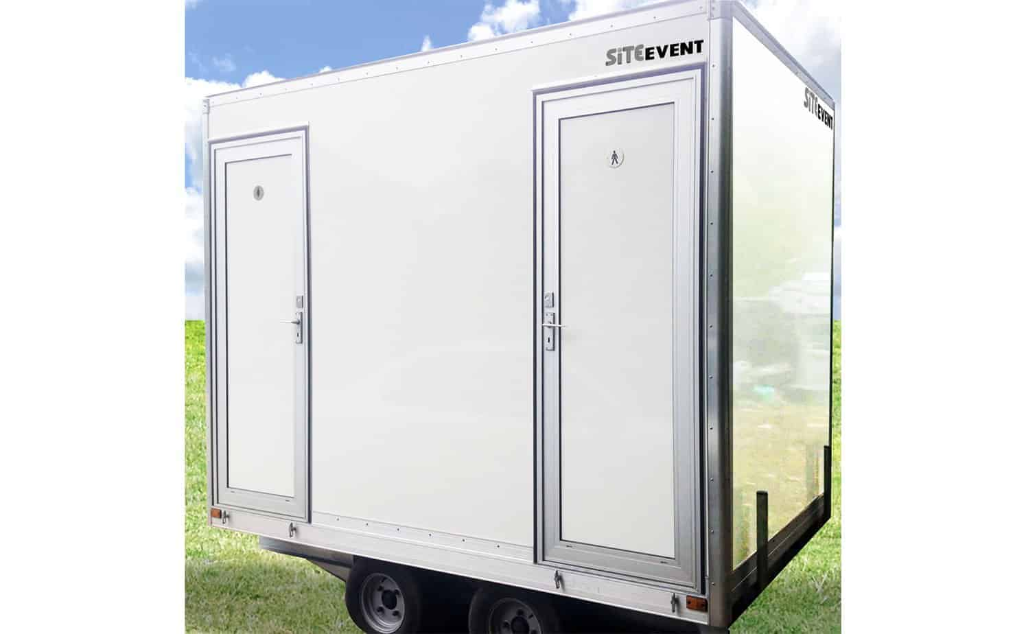 Compact event toilet trailer