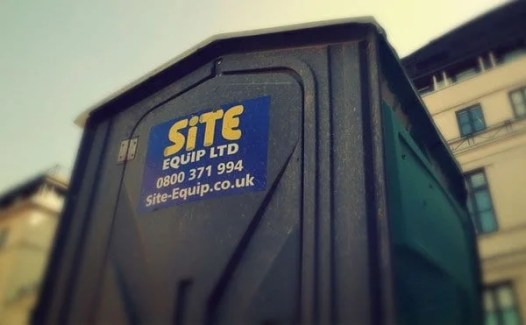 Construction hire equipment toilet