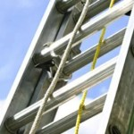 Lockable ladder guards