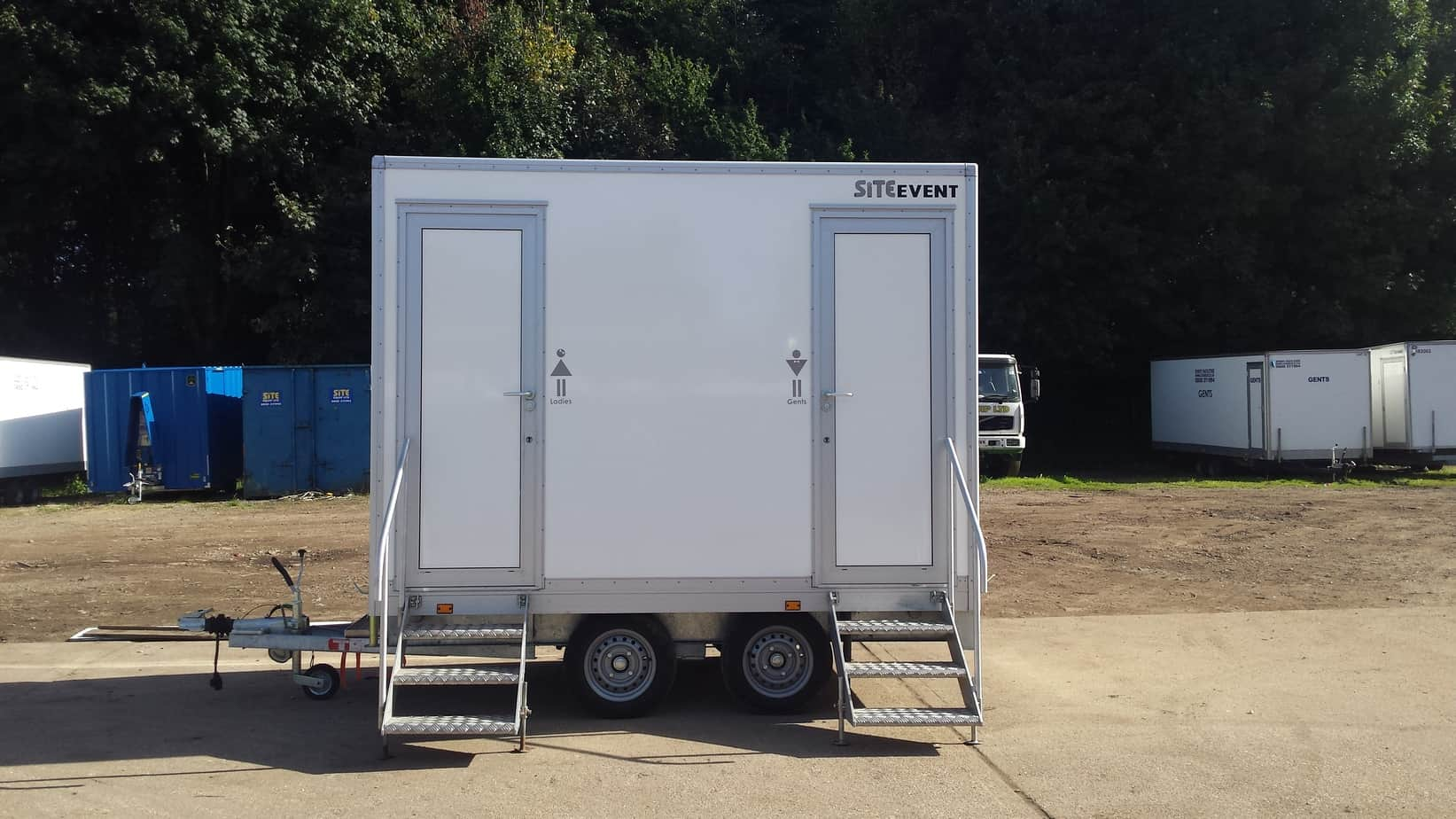 trailerams ada handicapped portable restroom global omega trailers ams bathroom