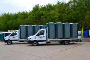 portable toilet vehicle