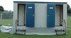 Mains Connected Wheeled Toilet Blocks Toilet Trailer for sale