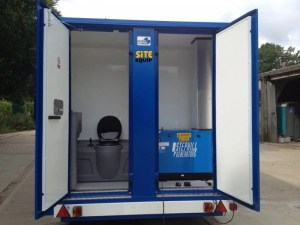 Mobile Ground hog Toilet Gernerator Drying Room Hire