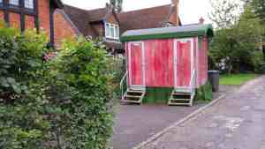 themed toilet hire - gypsy caravan