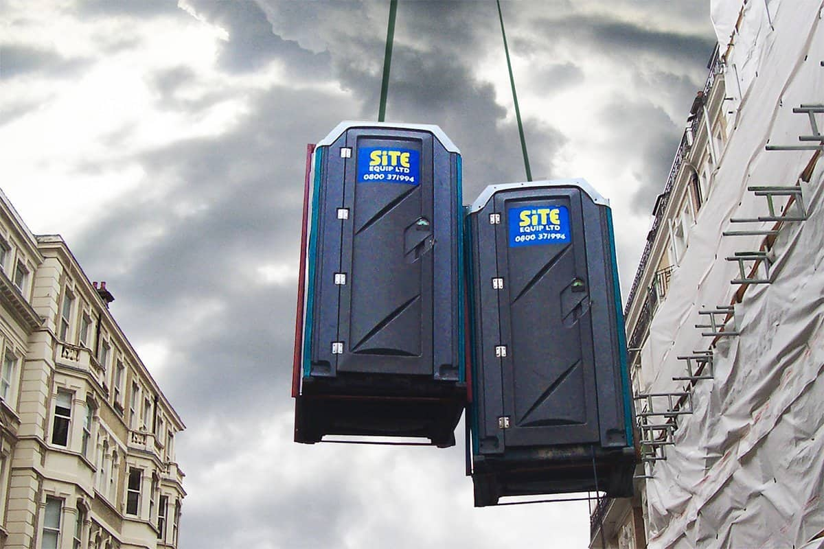 lifting frames for portable toilets