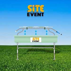 world water day 2018. Site Event hand washing station